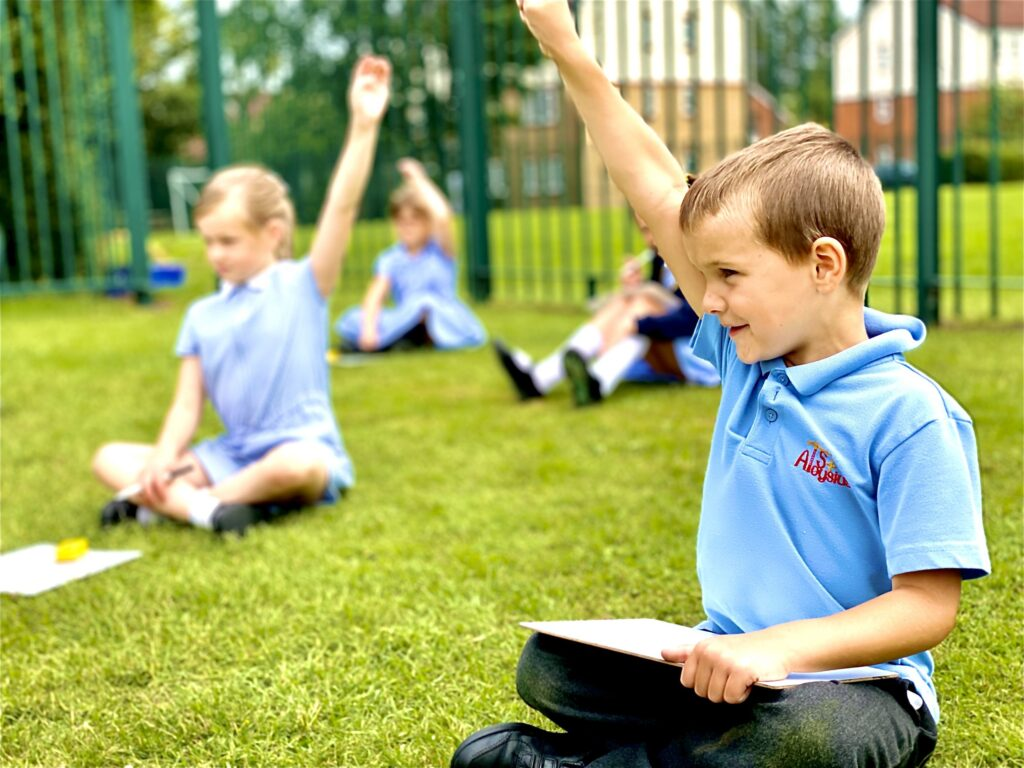 Children doing outdoor lessons
